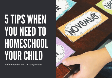 5 Tips When You Need To Homeschool Your Child