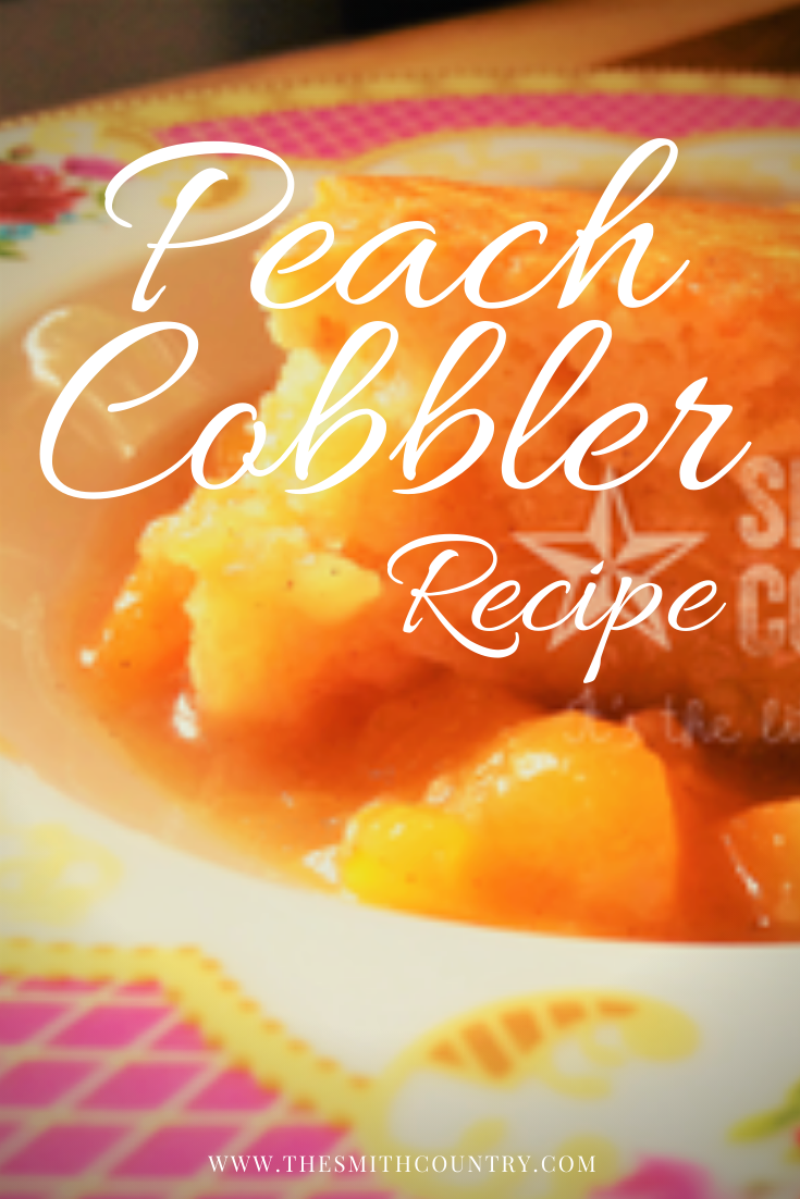 A Piece of Peach Cobbler in a Pink Shallow Bowl