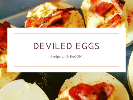Deviled Eggs (With Bacon)