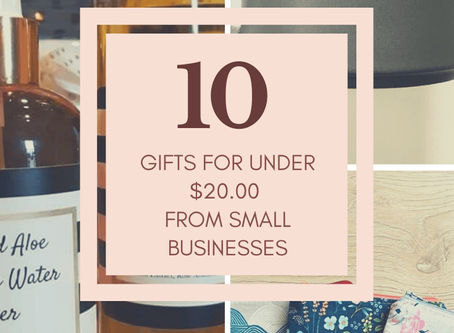 10 gifts for under $20 (All from Small Businesses)