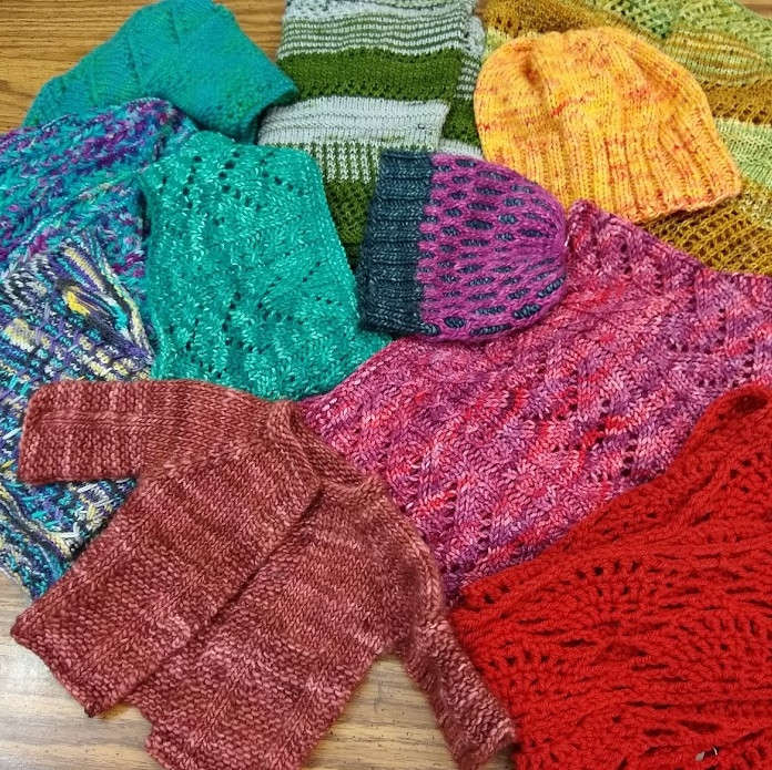 Handmade Wooly Wearables--Looking to give the gift of warmth? Check out these and other handmade wearables by Unwound Shop's own Kait!
