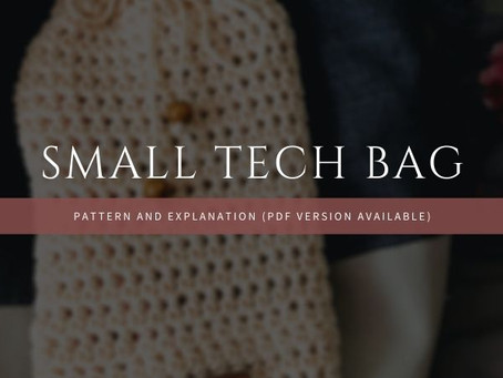 Free Pattern: Small Tech Bag