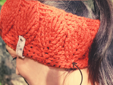 Free Pattern: The Birch Leaf Ear Warmer