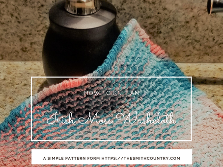 Free Pattern: Irish Moss Washcloth