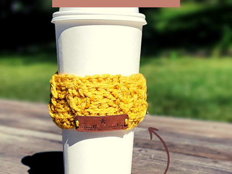 Free Pattern: Leaf Me to My Coffee! Cup Sleeve