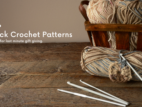 3 Quick Crochet Patterns