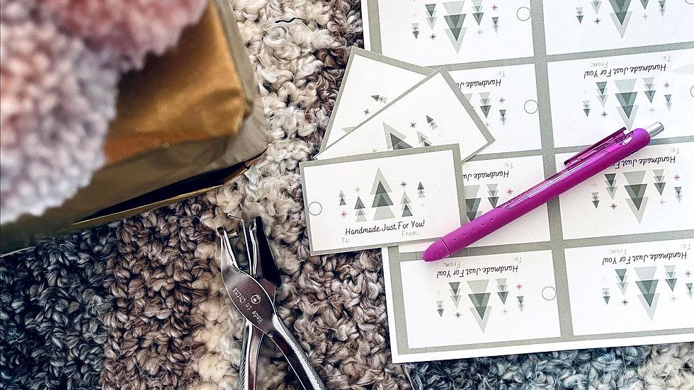Handmade Christmas Themed Tags