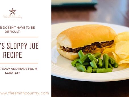 Jenn's Sloppy Joe Recipe