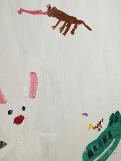 アトリエに壁画を描こう