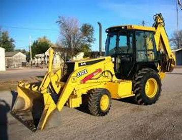 Picture of a backhoe.