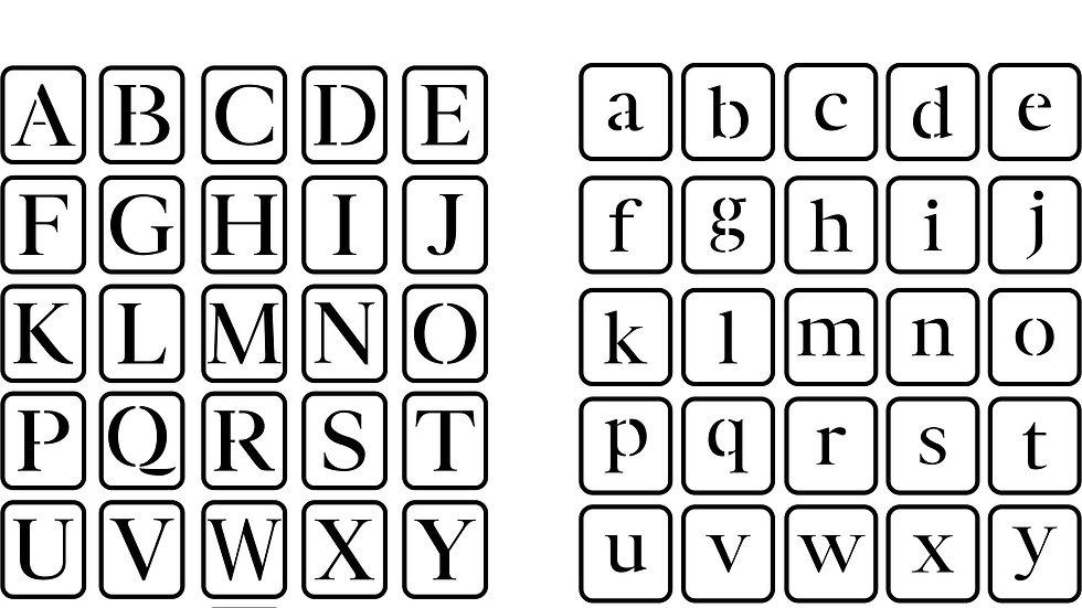 Letter Number Trio