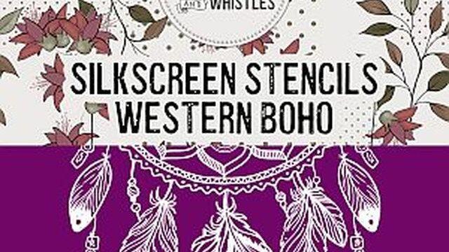 Western BoHo Silkscreen Stencil