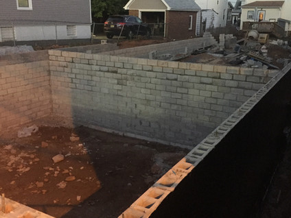 The foundation is almost done