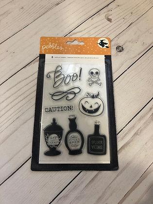Boo!  Halloween Stamps - Pebbles Inc