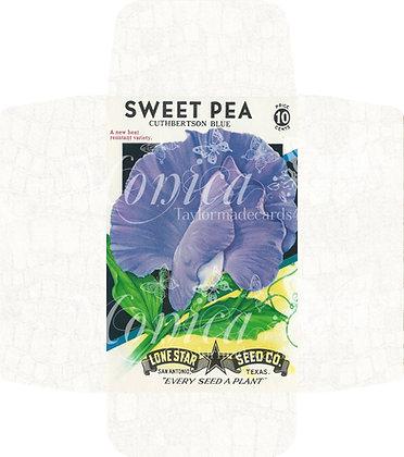 Vintage Seed pack - Sweet Pea