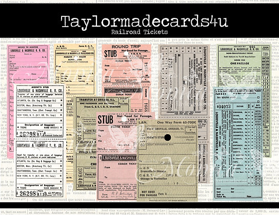 Railroad Passenger Tickets