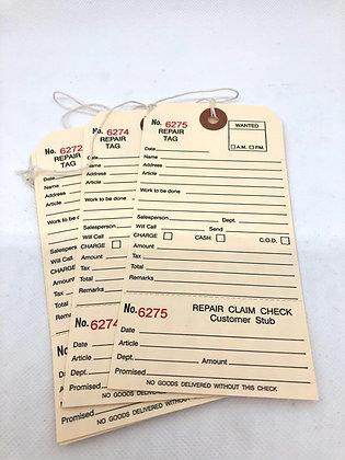 Repair Tags - Set of 10