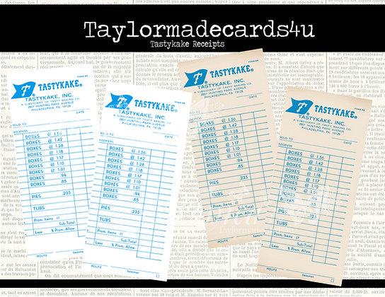 Vintage Tastykake forms, digital Restaurant forms