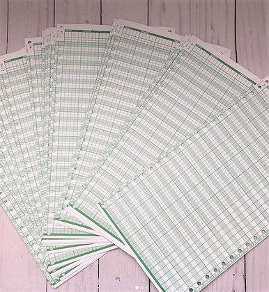 Ledger Sheets - 25 in each set