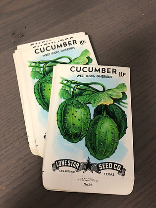 Cucumber Vintage Seed packs