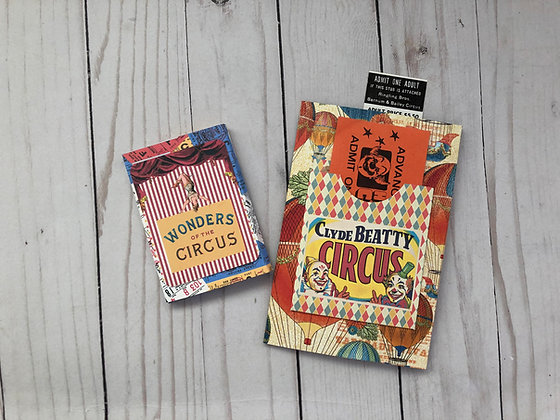 Circus Journal book and ATC Box