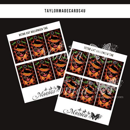Halloween - Retro Cat Tags