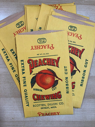 1920 Peachey Ribbon Tobacco Bag - NOS