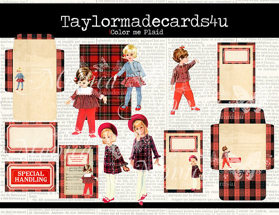 Color me Plaid - Plaid theme digital kit