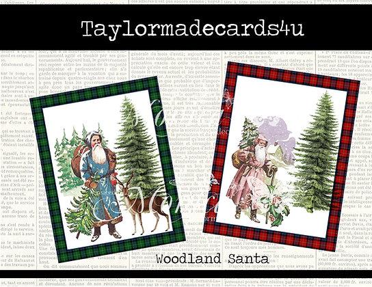 Woodland Santa - 4 ATC Digital Set