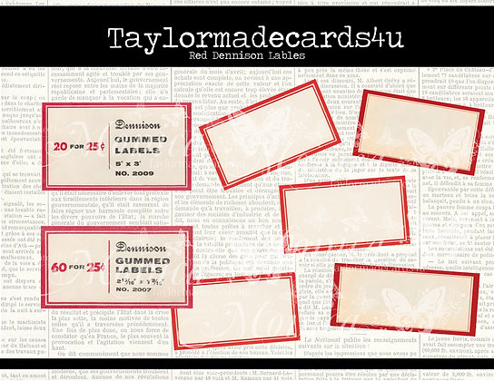 Red Dennison Label Set