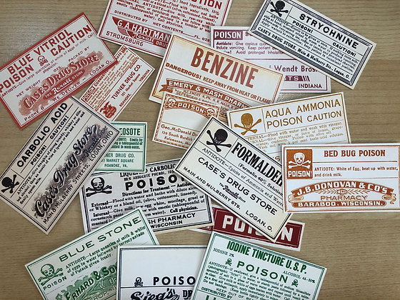Vintage Multi Color Pharmacy Ephemera - Reproduced from original images