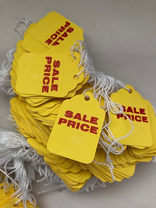 Vintage Yellow Sale Price tags