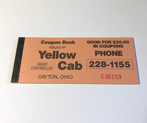 Vintage Yellow Cab Coupon Book
