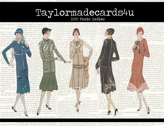 Paper Dolls - 1925 Parisian ladies - Set 1