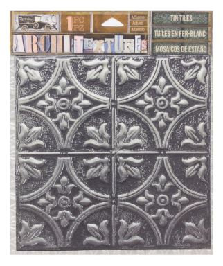 7 Gypsies Architextures™ Tin Tile - Tarnished Silver