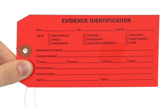 Evidence Identification Tags - Set of 10