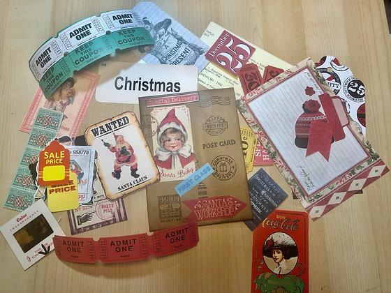 Christmas 40+ piece ephemera pack