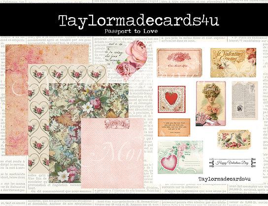 Passport to Love - Valentine Digital Kit