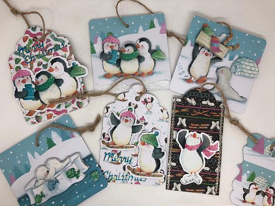 Christmas 3D tags - Set pf 8