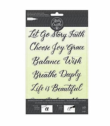 Kelly Creates - Clear Acrylic Stamps - Traceable - Faith Sentiments