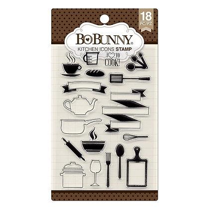 BoBunny Acrylic Stamp Set - Kitchen icons