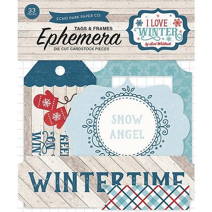Echo Park - I Love Winter - Ephemera pack