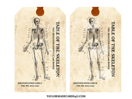 Halloween Skeleton Tags