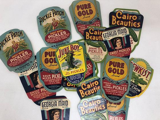 Fancy Pickle Labels - set of 6