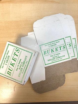Vintage Keller Company Bukets Boxes - NOS