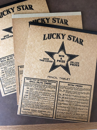 1946 Lucky Star Writing Tablet
