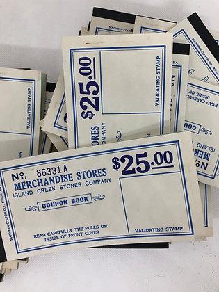 Vintage Merchandise Store Coupon books