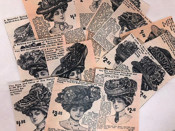 Set of 24 Lady Advertisements
