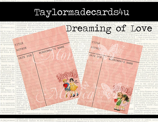 6 Valenitine Library Journal Card - Dreaming of Love