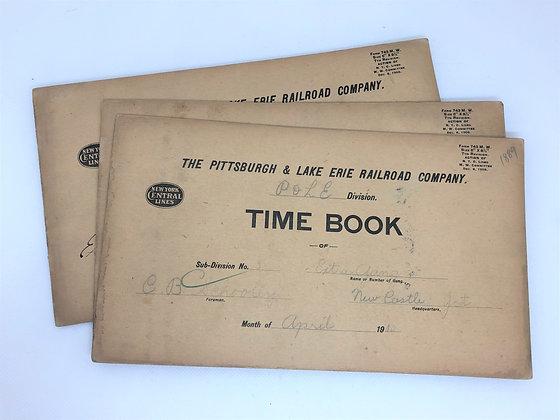 1911-1912 Railroad Time Book